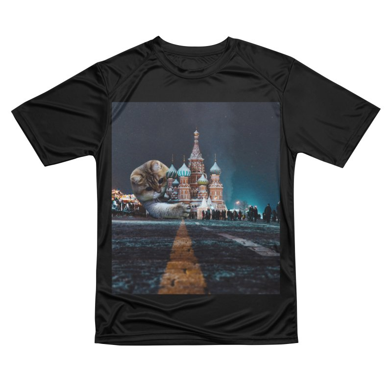 Saint Basil's Cathedral and Hosico Men's Performance T-Shirt by Hosico's Shop