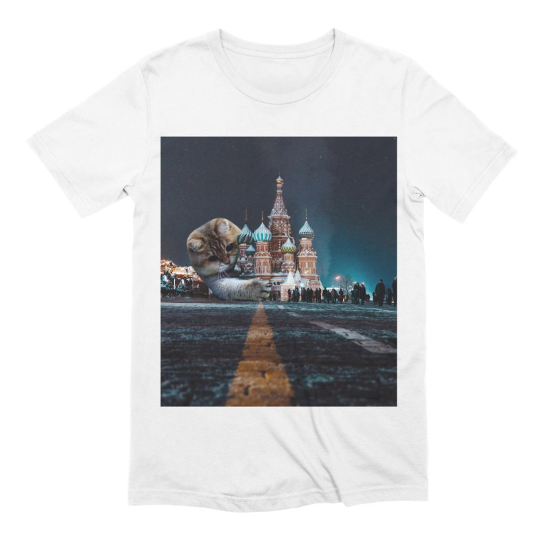 Saint Basil's Cathedral and Hosico Men's Extra Soft T-Shirt by Hosico's Shop