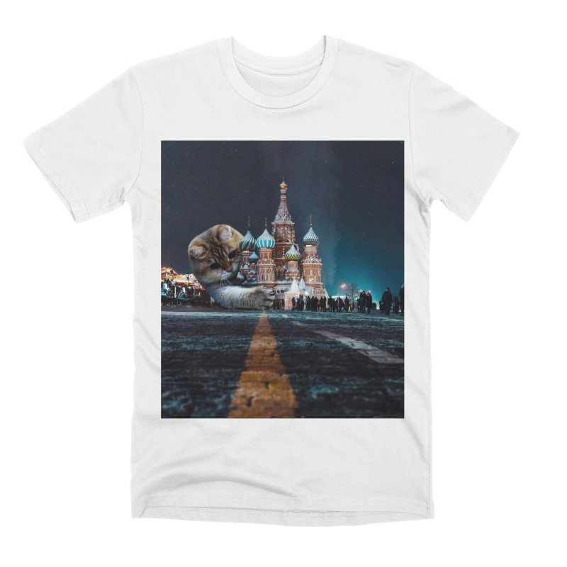 Saint Basil's Cathedral and Hosico Men's Premium T-Shirt by Hosico's Shop