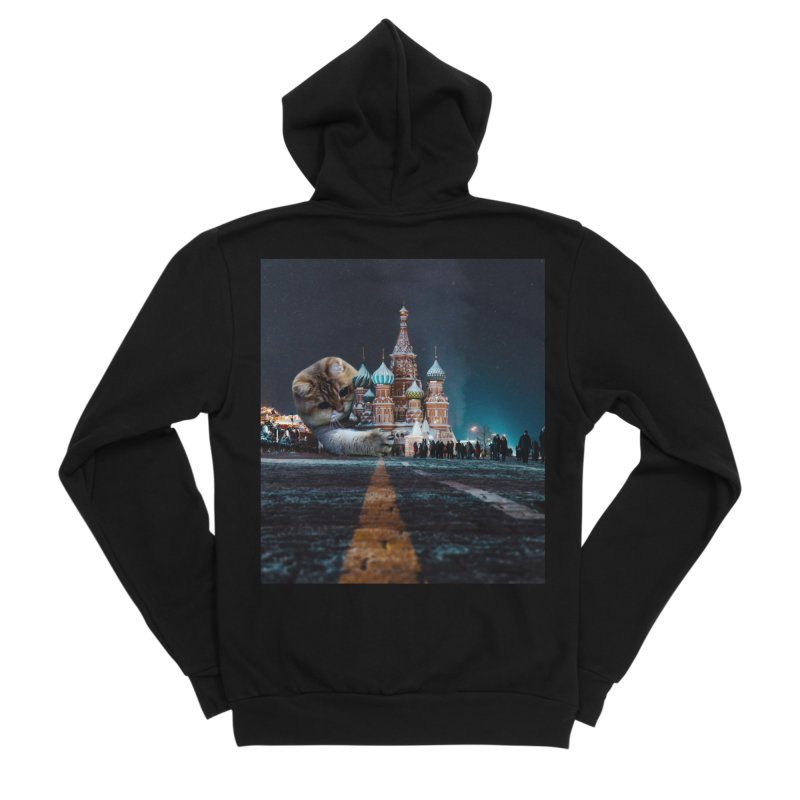 Saint Basil's Cathedral and Hosico Women's Sponge Fleece Zip-Up Hoody by Hosico's Shop
