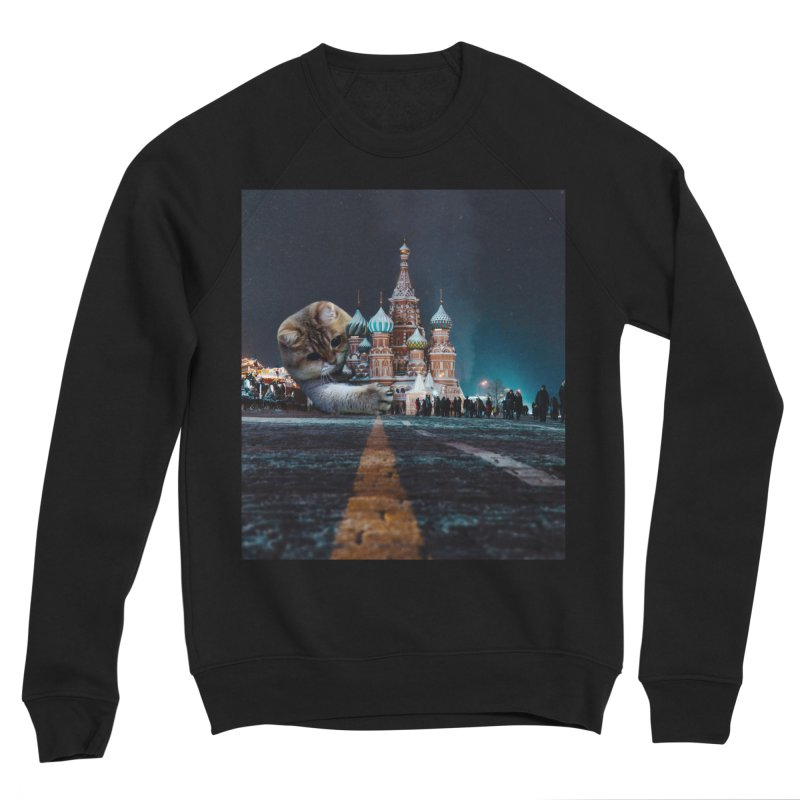 Saint Basil's Cathedral and Hosico Men's Sponge Fleece Sweatshirt by Hosico's Shop