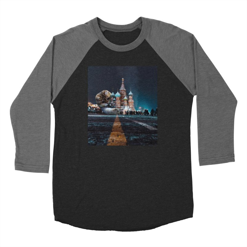 Saint Basil's Cathedral and Hosico Men's Baseball Triblend Longsleeve T-Shirt by Hosico's Shop