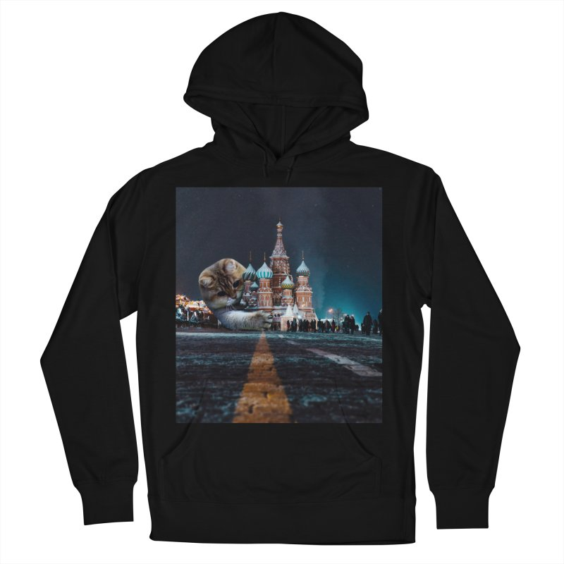 Saint Basil's Cathedral and Hosico Women's French Terry Pullover Hoody by Hosico's Shop