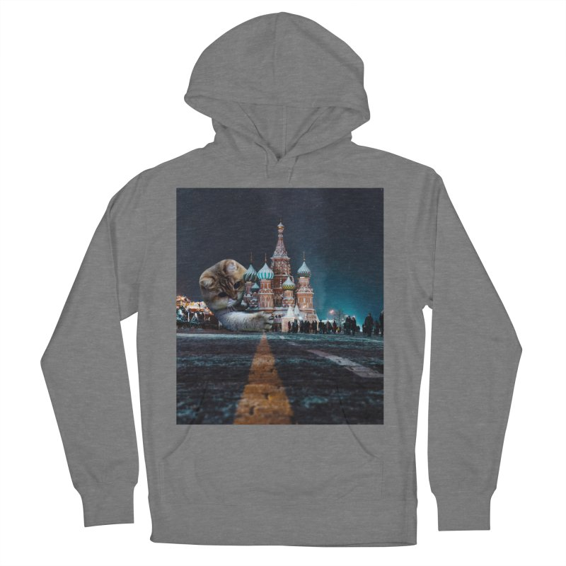 Saint Basil's Cathedral and Hosico Men's French Terry Pullover Hoody by Hosico's Shop