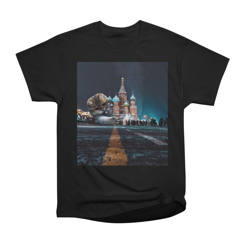 Saint Basil's Cathedral and Hosico Men's Heavyweight T-Shirt by Hosico's Shop