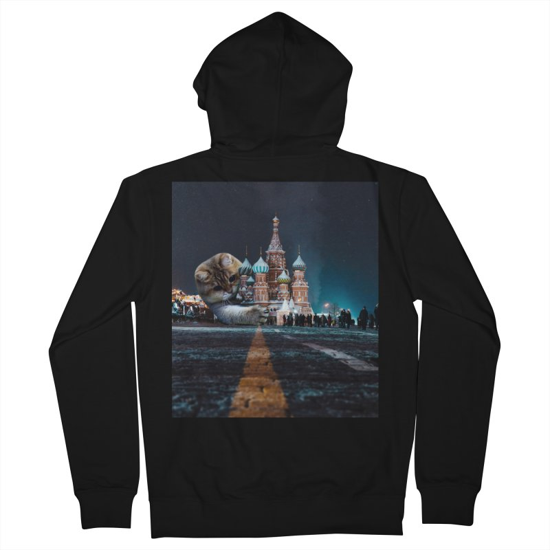 Saint Basil's Cathedral and Hosico Men's French Terry Zip-Up Hoody by Hosico's Shop