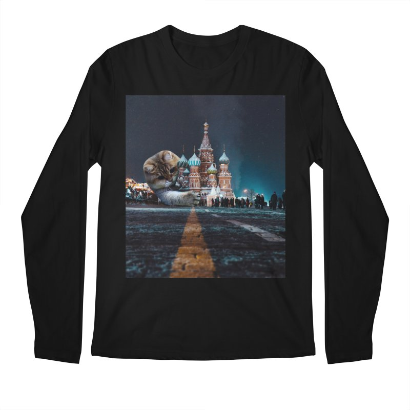 Saint Basil's Cathedral and Hosico Men's Regular Longsleeve T-Shirt by Hosico's Shop