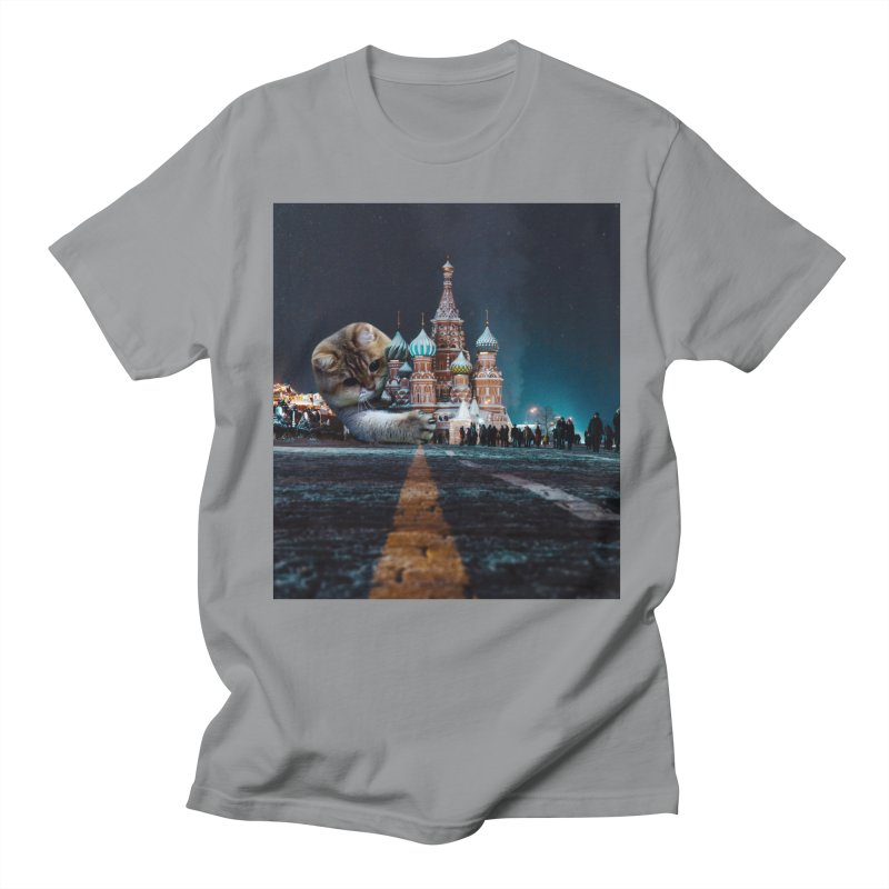 Saint Basil's Cathedral and Hosico Men's Regular T-Shirt by Hosico's Shop