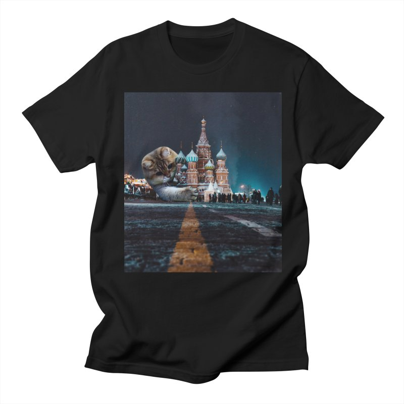 Saint Basil's Cathedral and Hosico Men's T-Shirt by Hosico's Shop