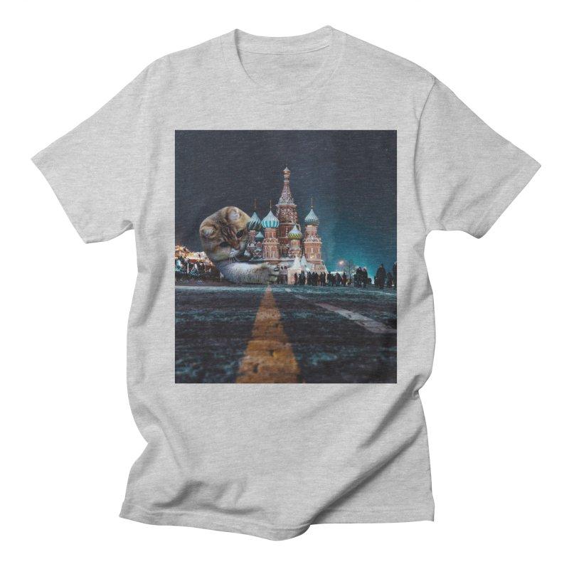 Saint Basil's Cathedral and Hosico Men's Regular T-Shirt by Hosico's Shop