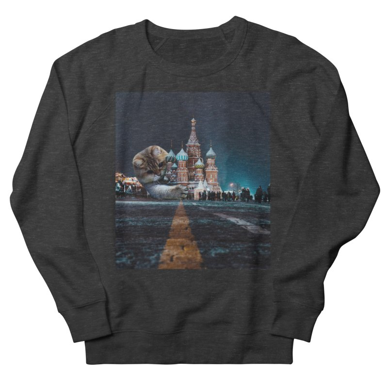 Saint Basil's Cathedral and Hosico Women's French Terry Sweatshirt by Hosico's Shop