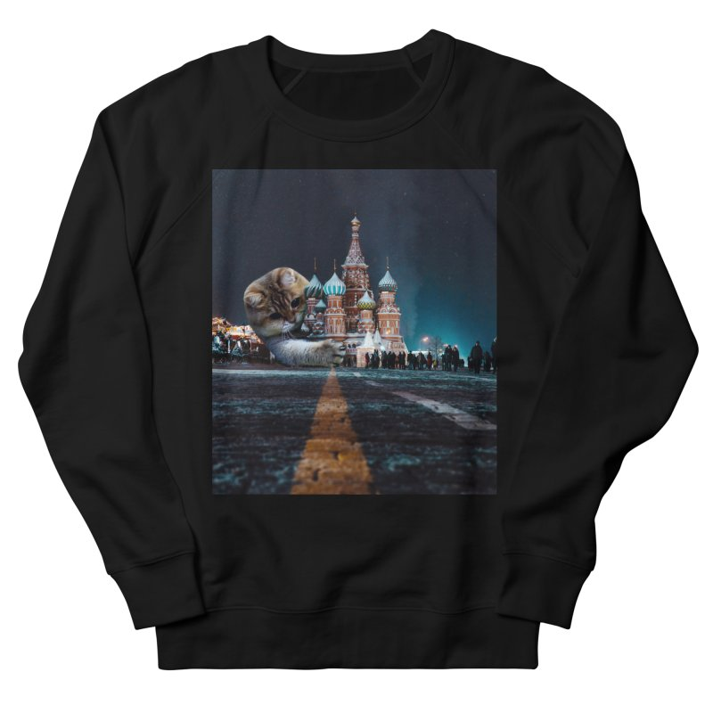 Saint Basil's Cathedral and Hosico Men's French Terry Sweatshirt by Hosico's Shop