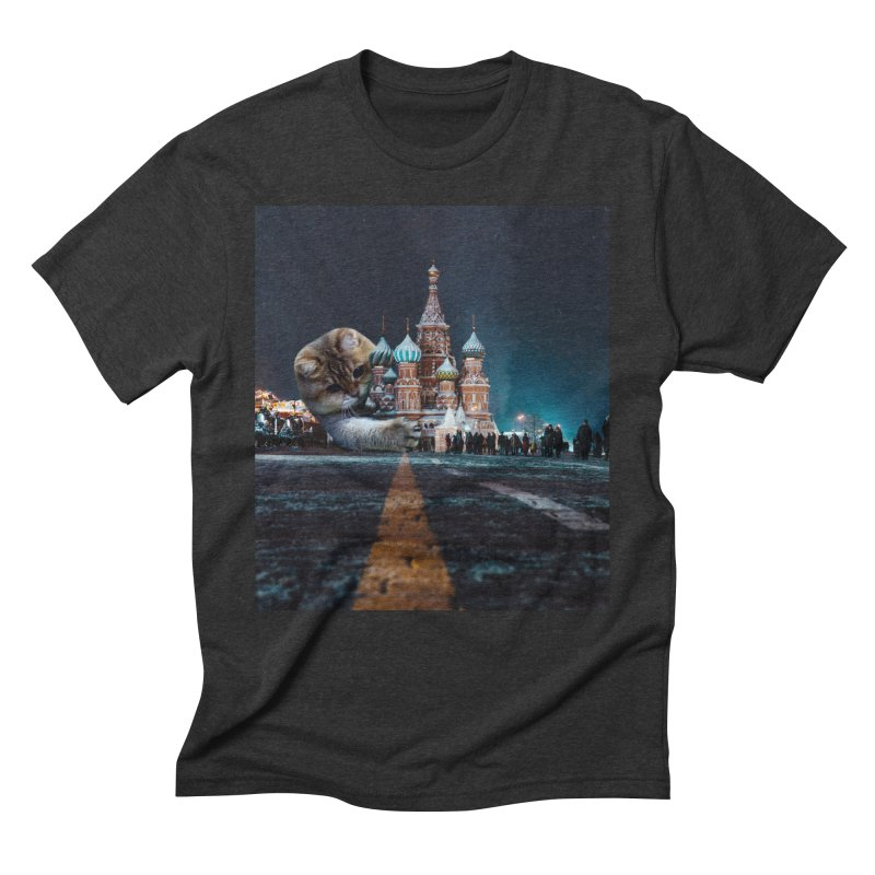 Saint Basil's Cathedral and Hosico Men's Triblend T-Shirt by Hosico's Shop