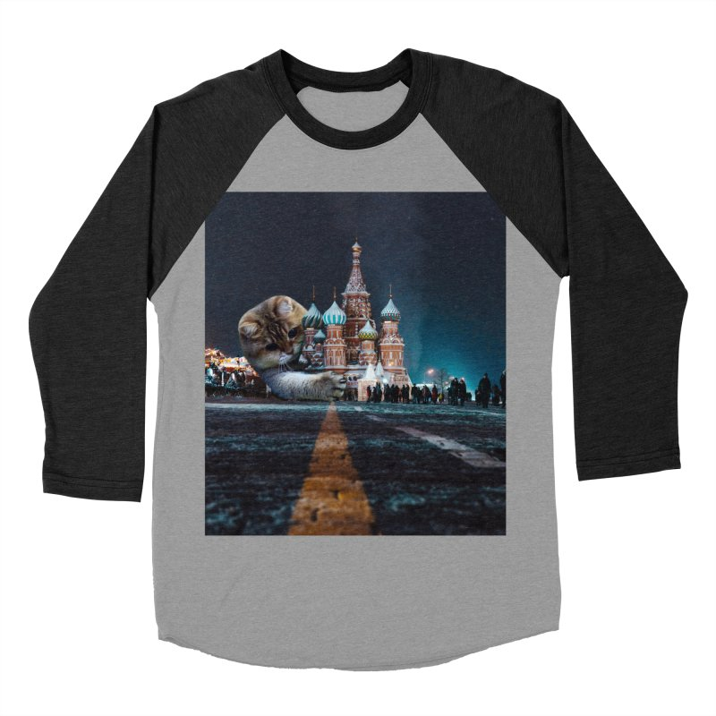 Saint Basil's Cathedral and Hosico Women's Baseball Triblend Longsleeve T-Shirt by Hosico's Shop