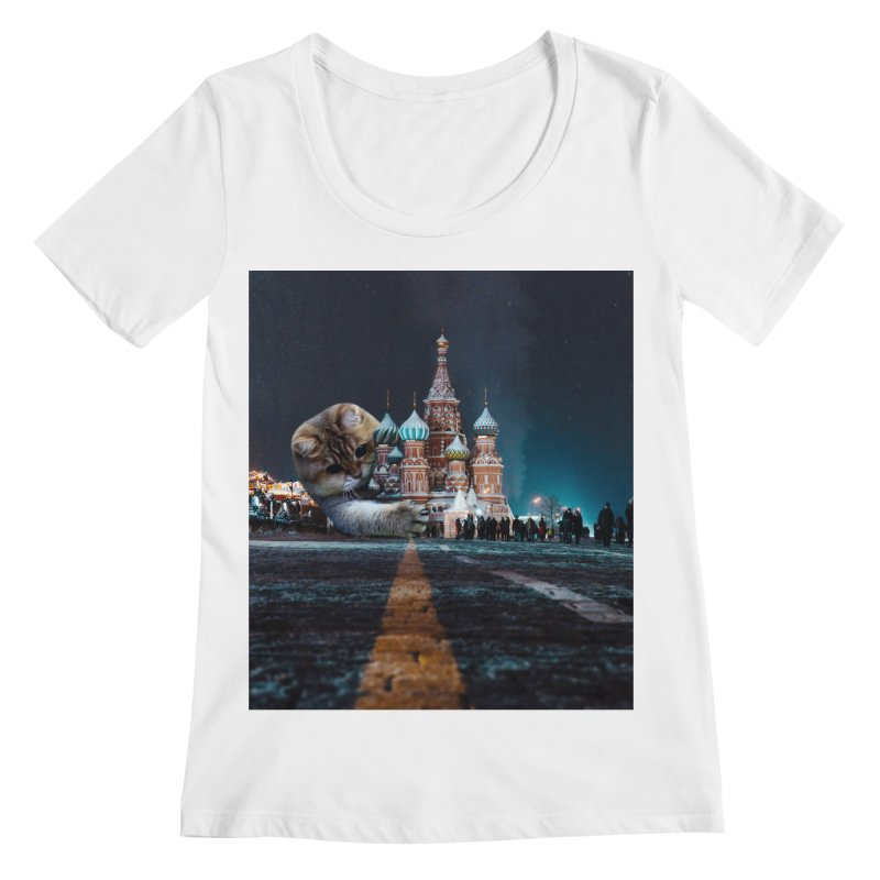 Saint Basil's Cathedral and Hosico Women's Regular Scoop Neck by Hosico's Shop