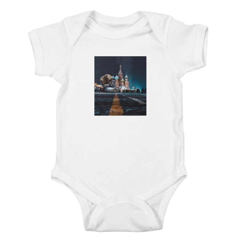 Saint Basil's Cathedral and Hosico Kids Baby Bodysuit by Hosico's Shop