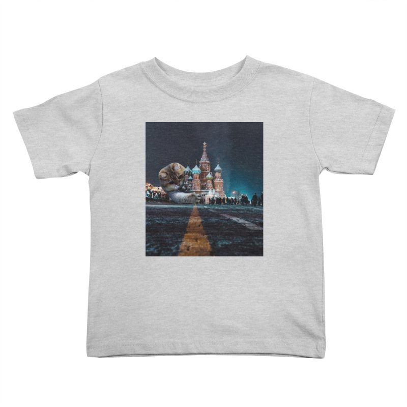 Saint Basil's Cathedral and Hosico Kids Toddler T-Shirt by Hosico's Shop