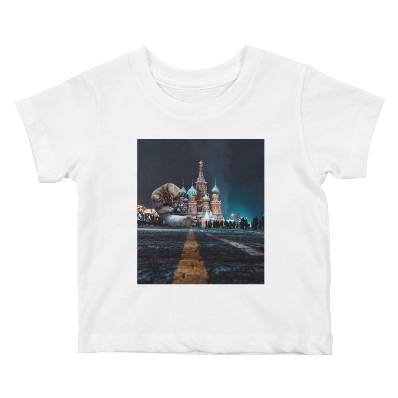 Saint Basil's Cathedral and Hosico Kids Baby T-Shirt by Hosico's Shop