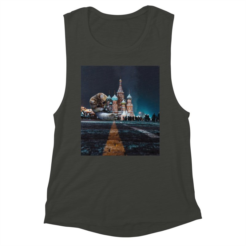 Saint Basil's Cathedral and Hosico Women's Muscle Tank by Hosico's Shop