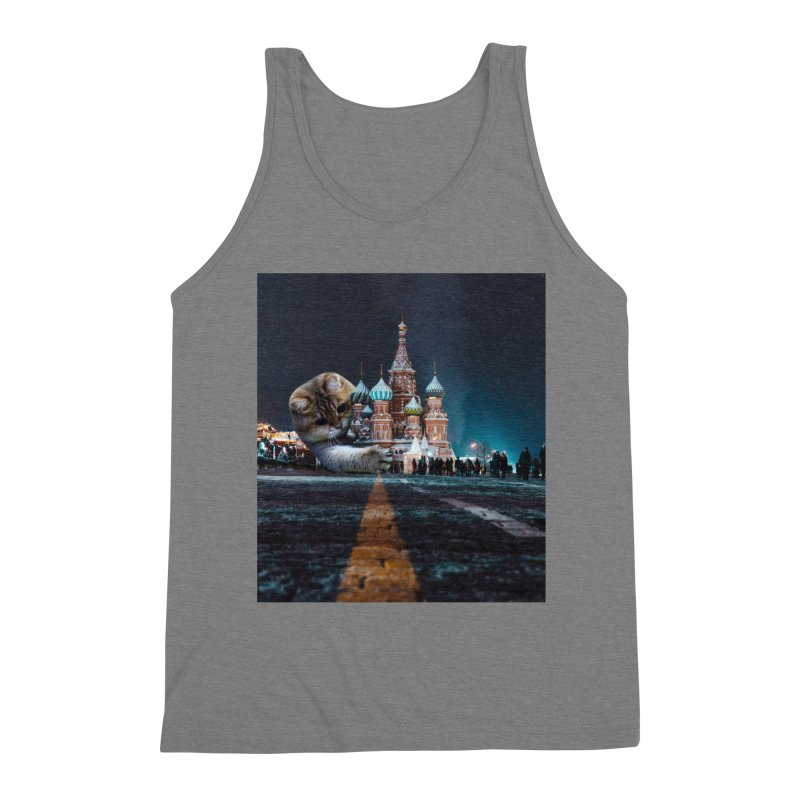 Saint Basil's Cathedral and Hosico Men's Triblend Tank by Hosico's Shop