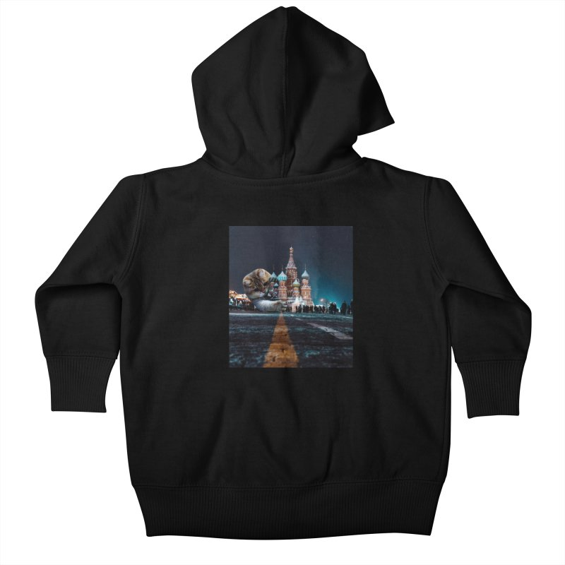 Saint Basil's Cathedral and Hosico Kids Baby Zip-Up Hoody by Hosico's Shop