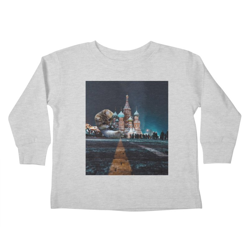 Saint Basil's Cathedral and Hosico Kids Toddler Longsleeve T-Shirt by Hosico's Shop