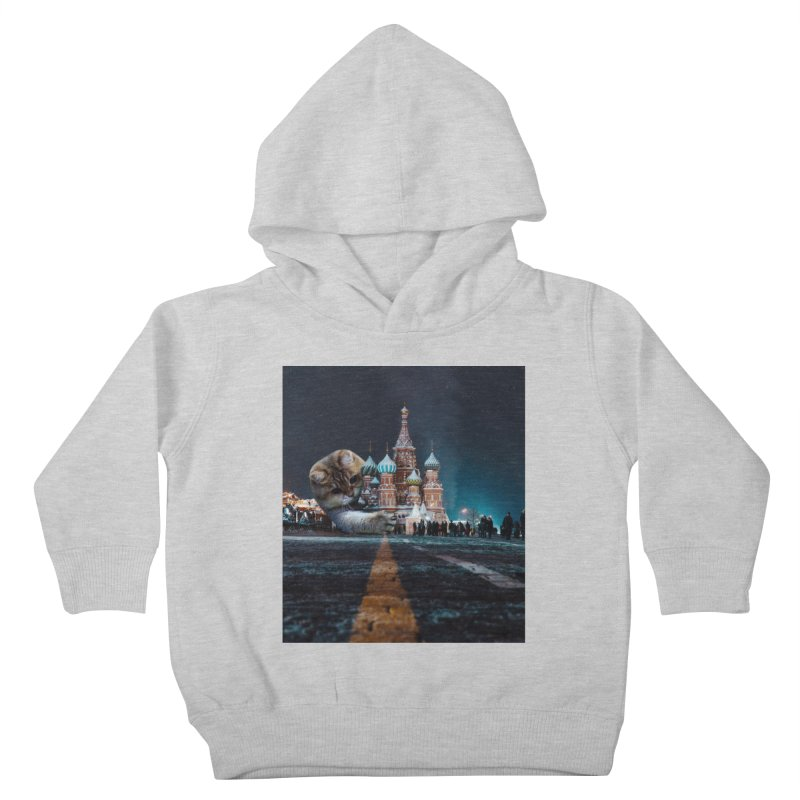 Saint Basil's Cathedral and Hosico Kids Toddler Pullover Hoody by Hosico's Shop