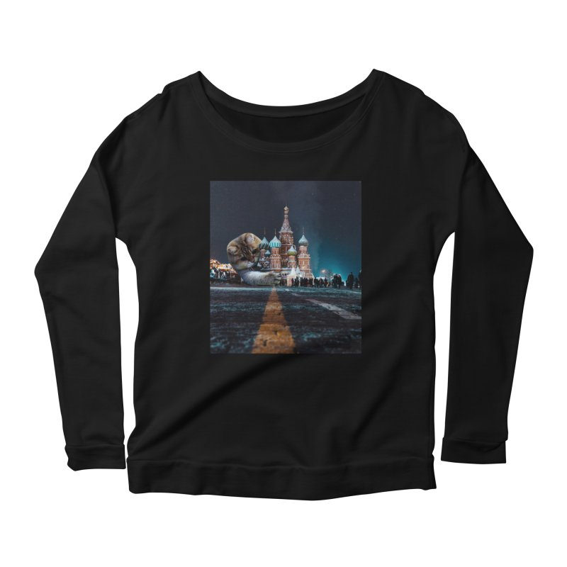 Saint Basil's Cathedral and Hosico Women's Scoop Neck Longsleeve T-Shirt by Hosico's Shop