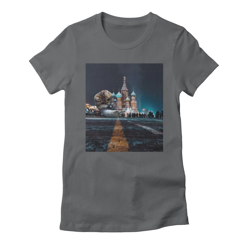 Saint Basil's Cathedral and Hosico Women's Fitted T-Shirt by Hosico's Shop