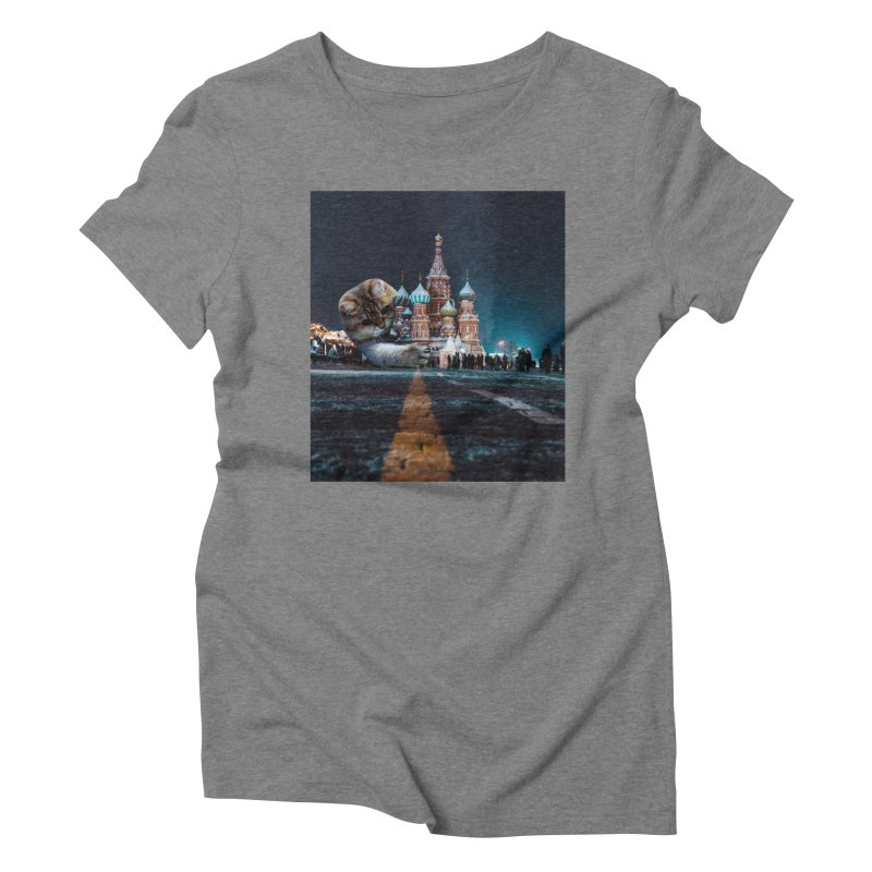 Saint Basil's Cathedral and Hosico Women's Triblend T-Shirt by Hosico's Shop