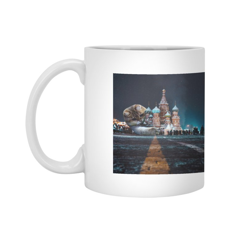 Saint Basil's Cathedral and Hosico Accessories Mug by Hosico's Shop