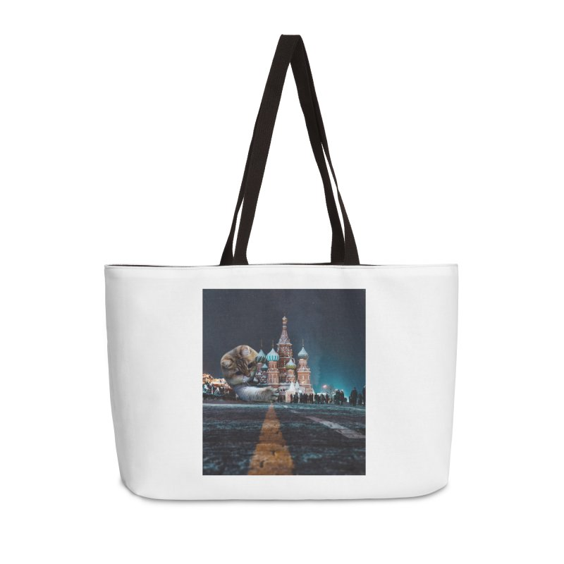 Saint Basil's Cathedral and Hosico Accessories Weekender Bag Bag by Hosico's Shop