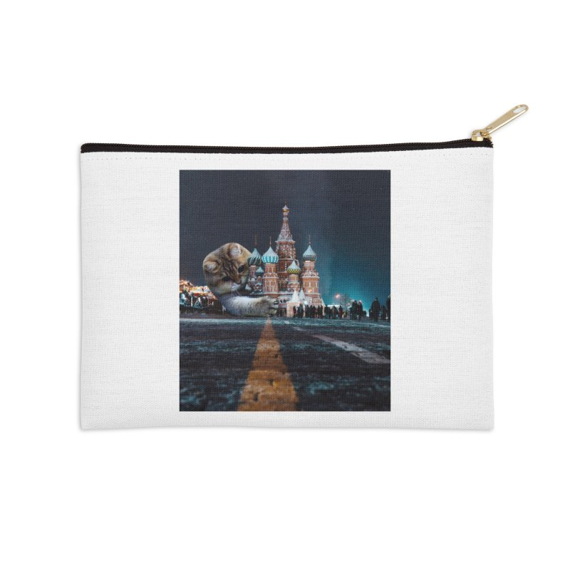 Saint Basil's Cathedral and Hosico Accessories Zip Pouch by Hosico's Shop