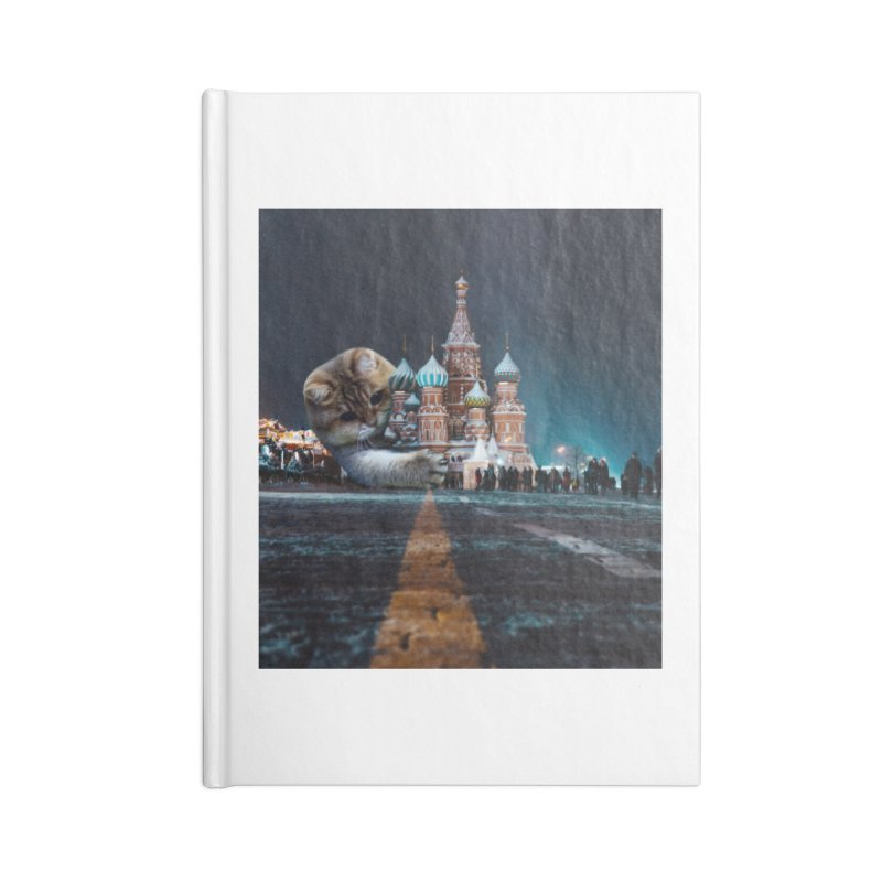 Saint Basil's Cathedral and Hosico Accessories Blank Journal Notebook by Hosico's Shop
