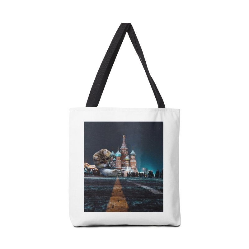 Saint Basil's Cathedral and Hosico Accessories Tote Bag Bag by Hosico's Shop