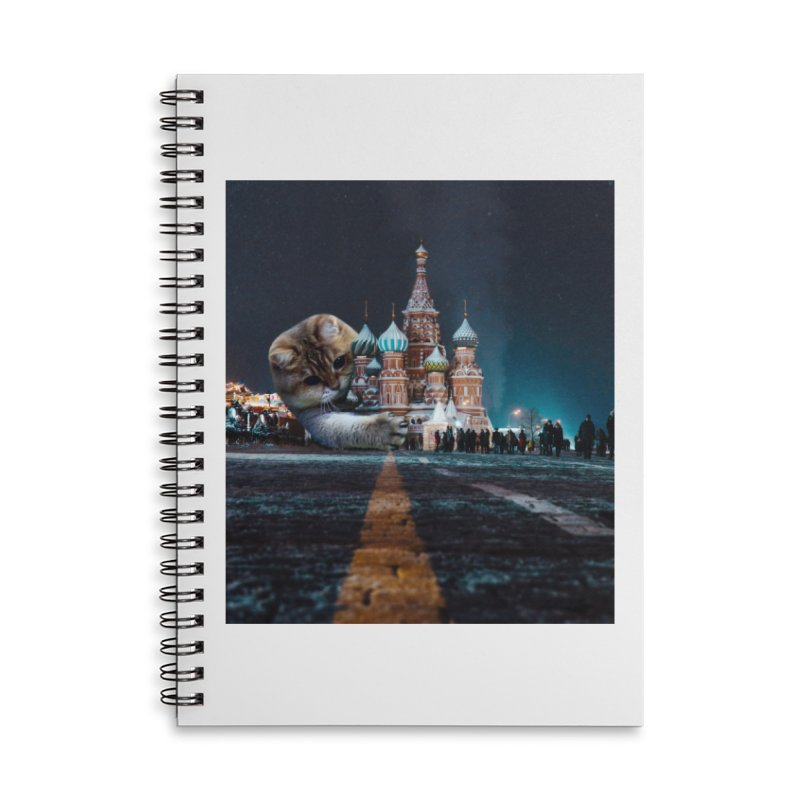 Saint Basil's Cathedral and Hosico Accessories Lined Spiral Notebook by Hosico's Shop