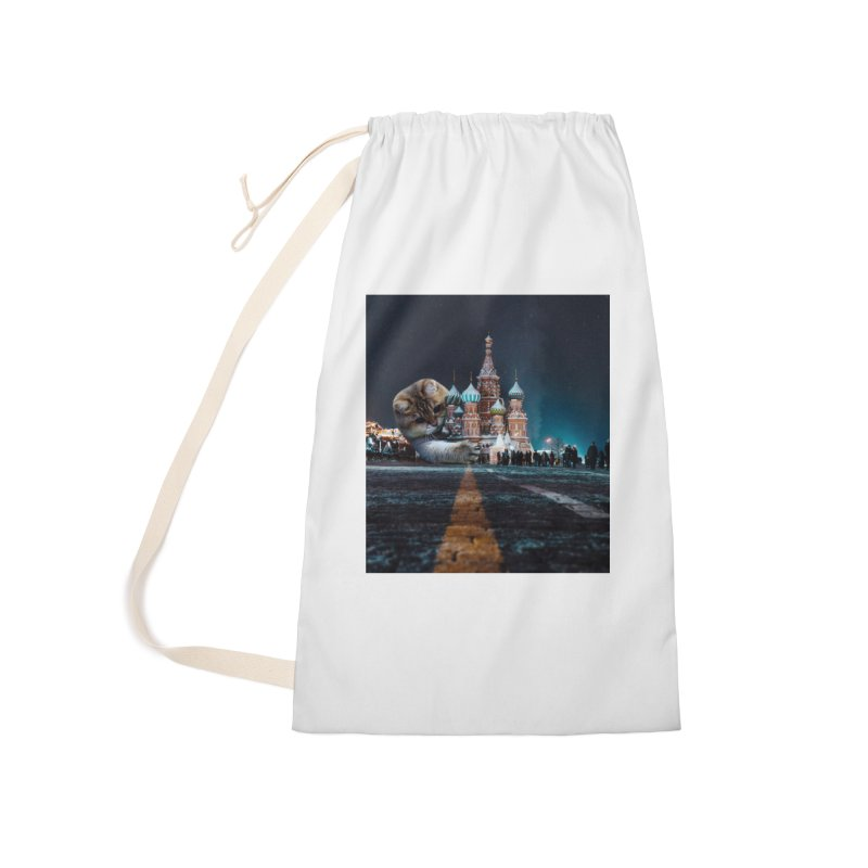 Saint Basil's Cathedral and Hosico Accessories Laundry Bag Bag by Hosico's Shop