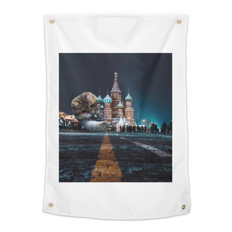 Saint Basil's Cathedral and Hosico Home Tapestry by Hosico's Shop