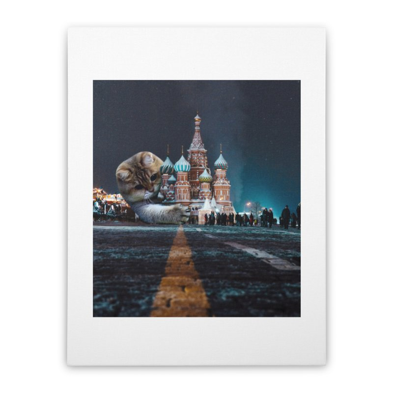 Saint Basil's Cathedral and Hosico Home Stretched Canvas by Hosico's Shop