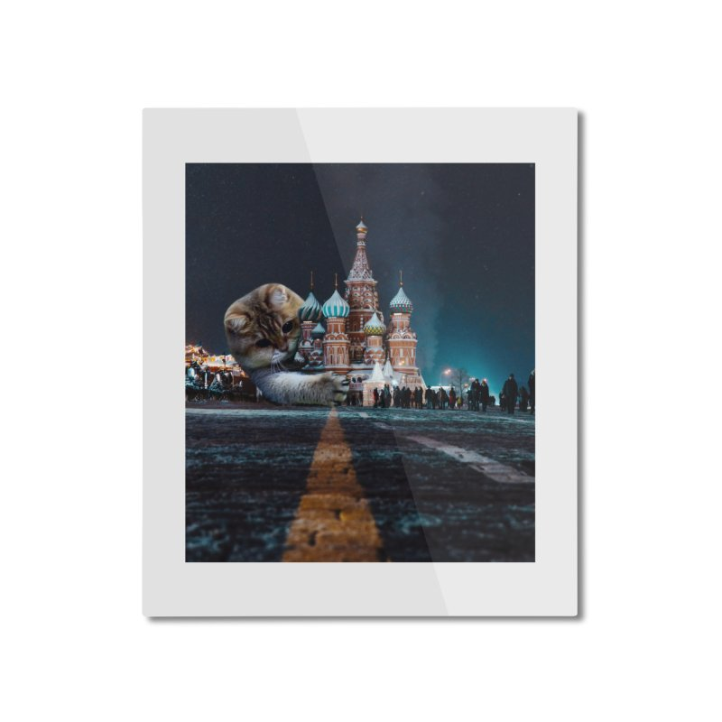 Saint Basil's Cathedral and Hosico Home Mounted Aluminum Print by Hosico's Shop