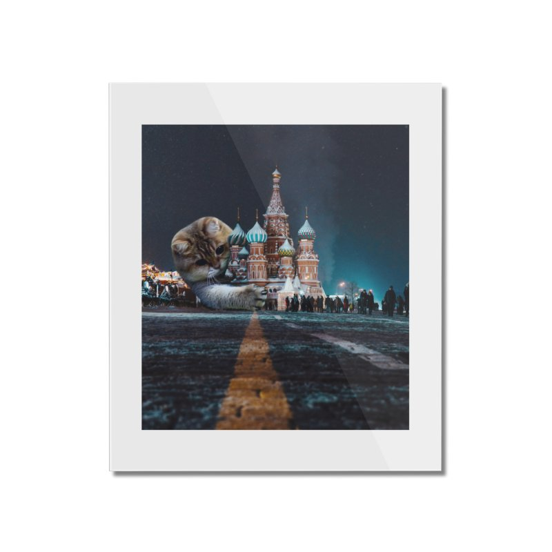 Saint Basil's Cathedral and Hosico Home Mounted Acrylic Print by Hosico's Shop
