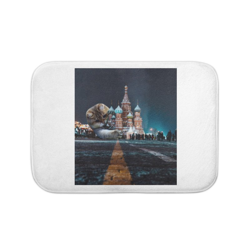 Saint Basil's Cathedral and Hosico Home Bath Mat by Hosico's Shop