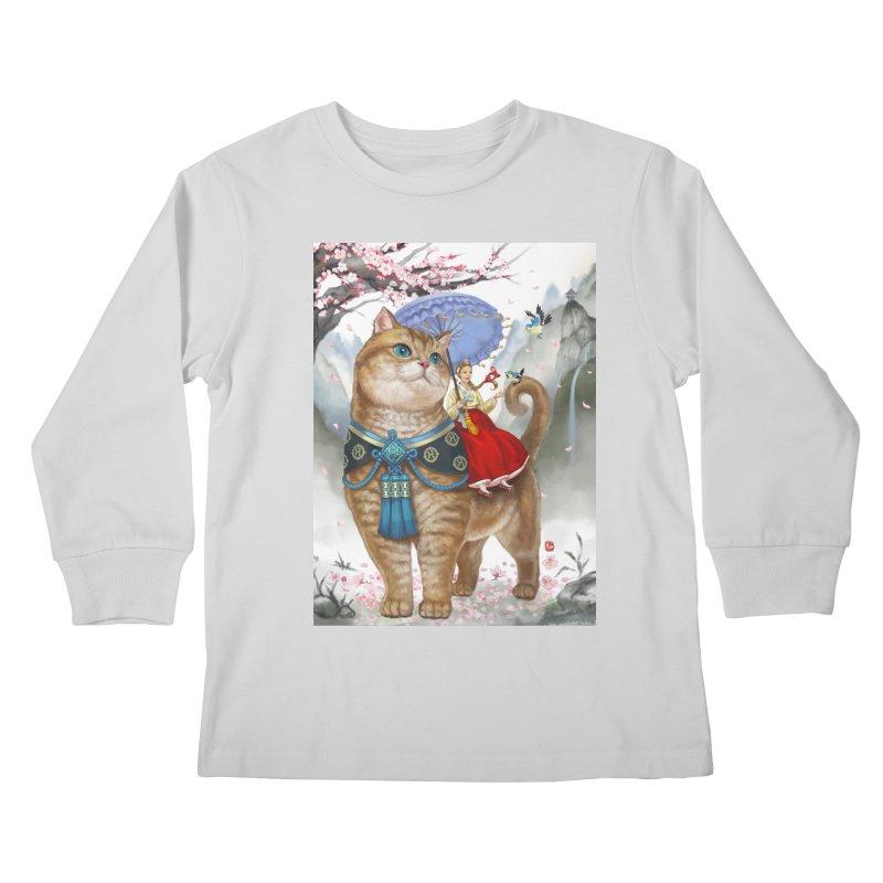 Hosico Hanbok Kids Longsleeve T-Shirt by Hosico's Artist Shop