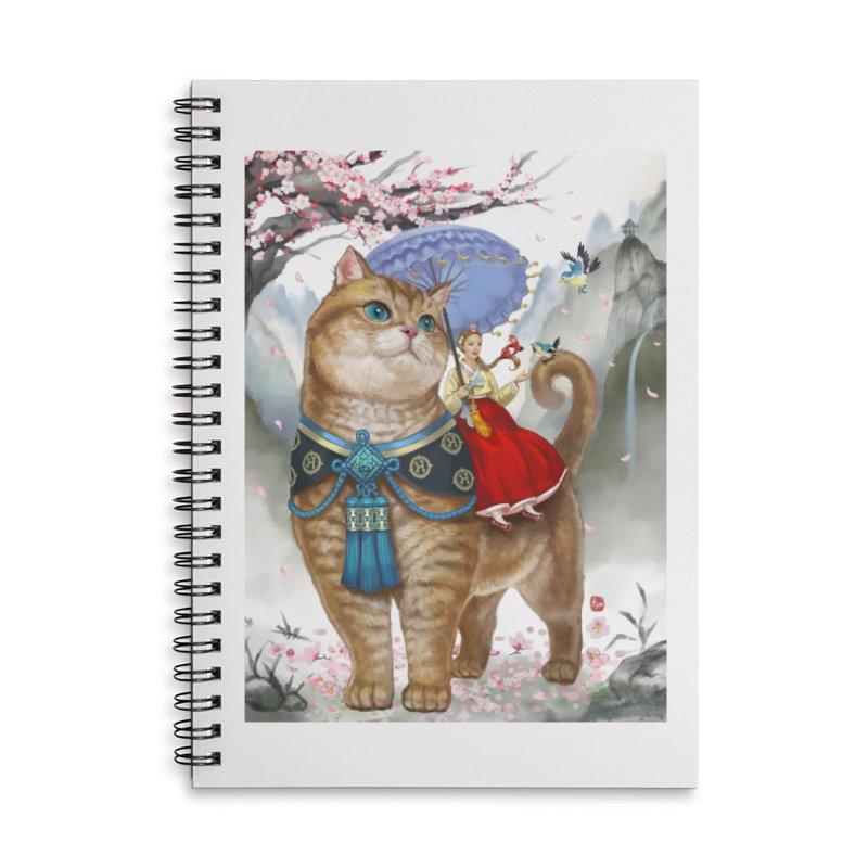 Hosico Hanbok in Lined Spiral Notebook by Hosico's Artist Shop