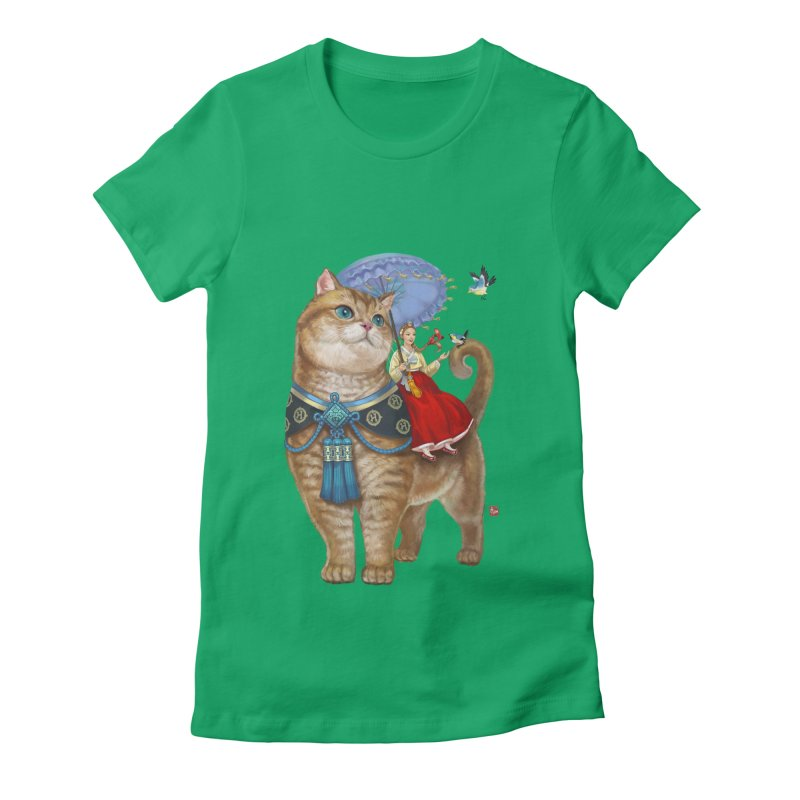 Hosico Hanbok Women's Fitted T-Shirt by Hosico's Artist Shop