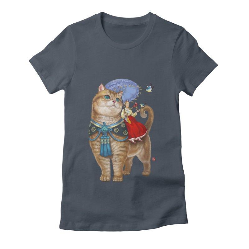Hosico Hanbok in Women's Fitted T-Shirt Denim by Hosico's Artist Shop