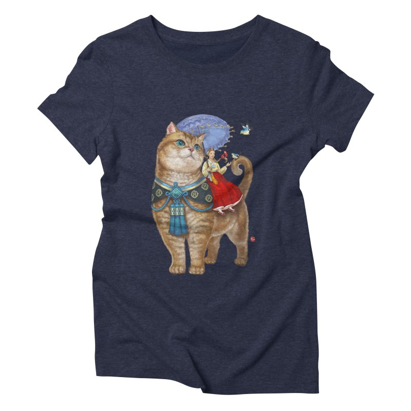 Hosico Hanbok Women's Triblend T-shirt by Hosico's Artist Shop