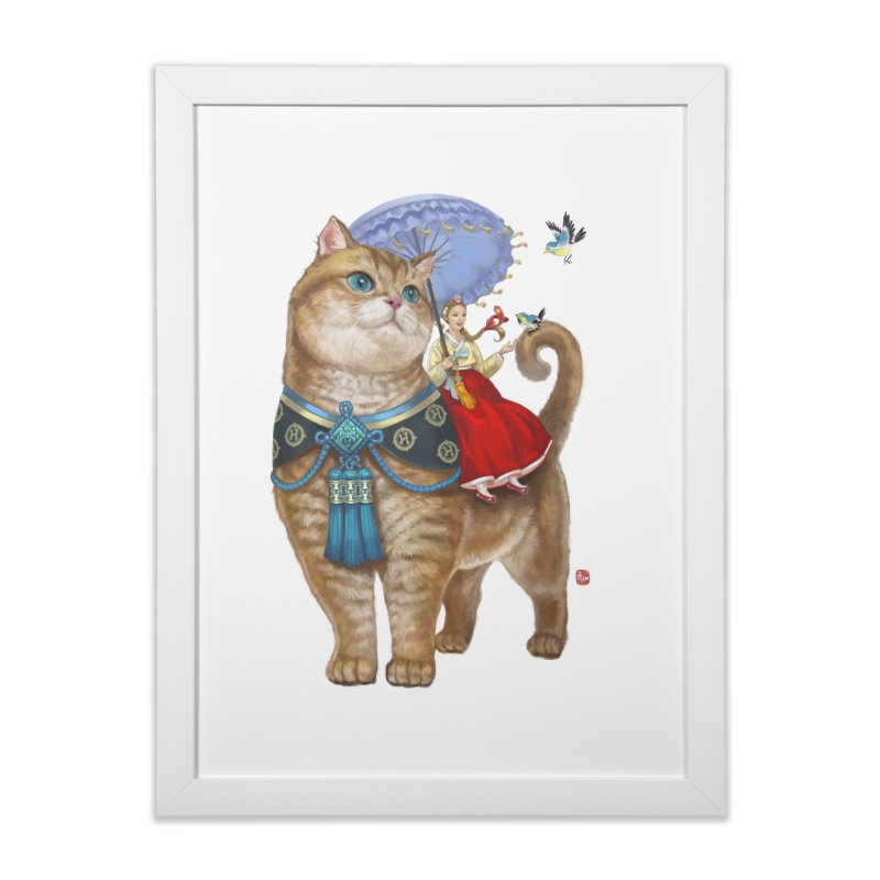 Hosico Hanbok Home Framed Fine Art Print by Hosico's Artist Shop