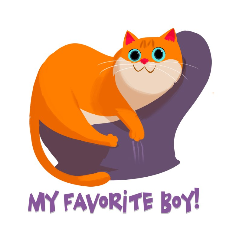 My Favorite Boy! Women's Fitted T-Shirt by Hosico's Artist Shop