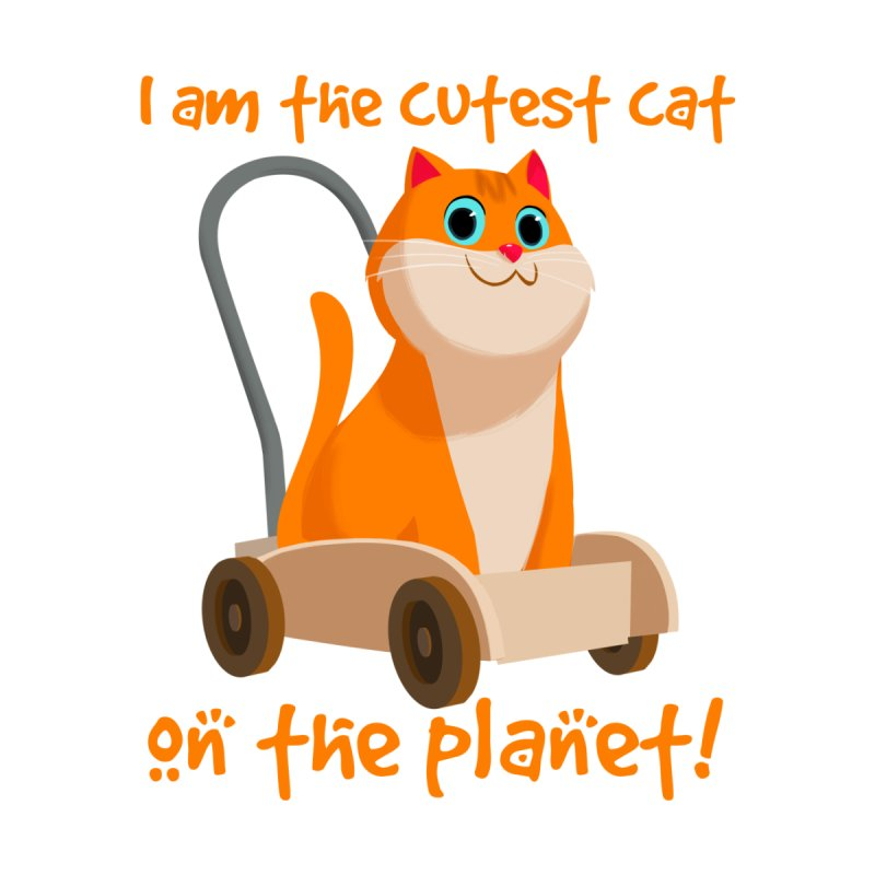 I am the cutest cat on the planet! Men's T-shirt by Hosico's Artist Shop